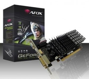 AFOX GEFORCE 210 1GB DDR2 DVI HDMI VGA LOW PROFILE V7 AF210-1024D2LG2-V7